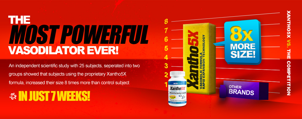 Xantho Rx is the Most Powerful Vasodilator on the market and can yield up to 8x the growth potential.
